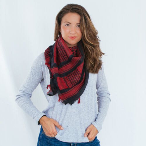 """Rebel Tactical Shemagh Tactical Military Scarf 42/""""x42/"""" Normal Weight Red"""