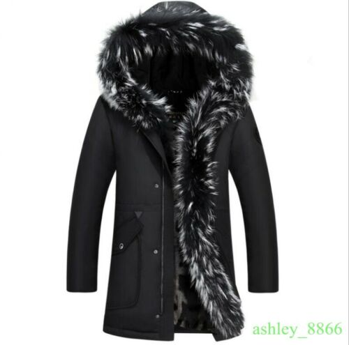 Business manteau hiver homme down jacket épaissir à capuche outdoor long casual coats