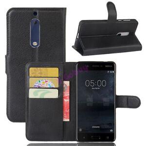 De-Luxe-Rabattable-Cuir-PU-Magnetique-Portefeuille-Carte-Etui-pour-Nokia-3-5-6-8