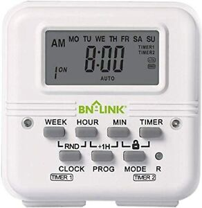 7-Day-Heavy-Duty-Digital-independent-Programmable-Timer-Dual-two-Outlet