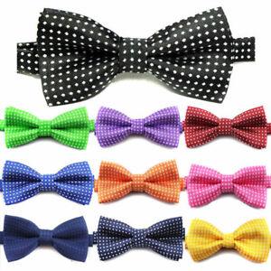 Kids-Boys-Toddler-Infant-Bowtie-Pre-Tied-Wedding-Party-Bow-Tie-Necktie-Polka-dot