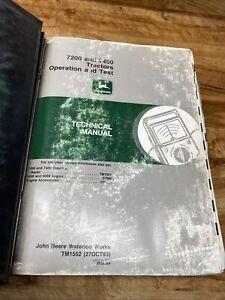 John Deere Tractor 7200 7400 Technical, Service Repair,  Manual TM1551 TM1552