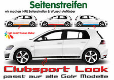 VW Golf Club Clubsport Look Seitenstreifen Set - alle Golf Modelle 3 & 4 Türer