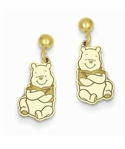 dbe8f1cfa Image is loading Gold-plated-Sterling-Silver-Disney-Winnie-the-Pooh-