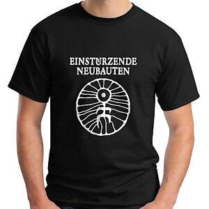 New-Einsturzende-Neubauten-Short-Sleeve-Black-Men-039-s-T-Shirt-Size-S-5XL