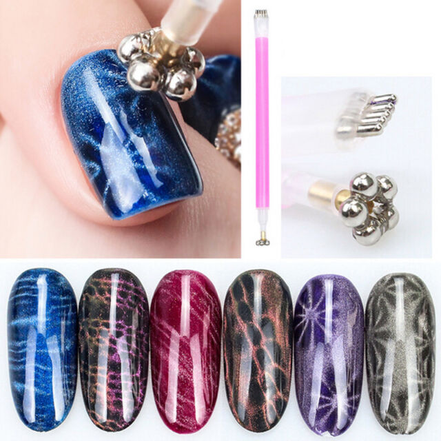 nail art cat magnet pen for magic 3d magnetic cats eyes uv gel polish brush H