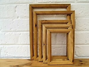 Photo-Picture-Frame-Antique-Pine-Natural-Wood-Rustic-Hand-Finished-Choice-Sizes