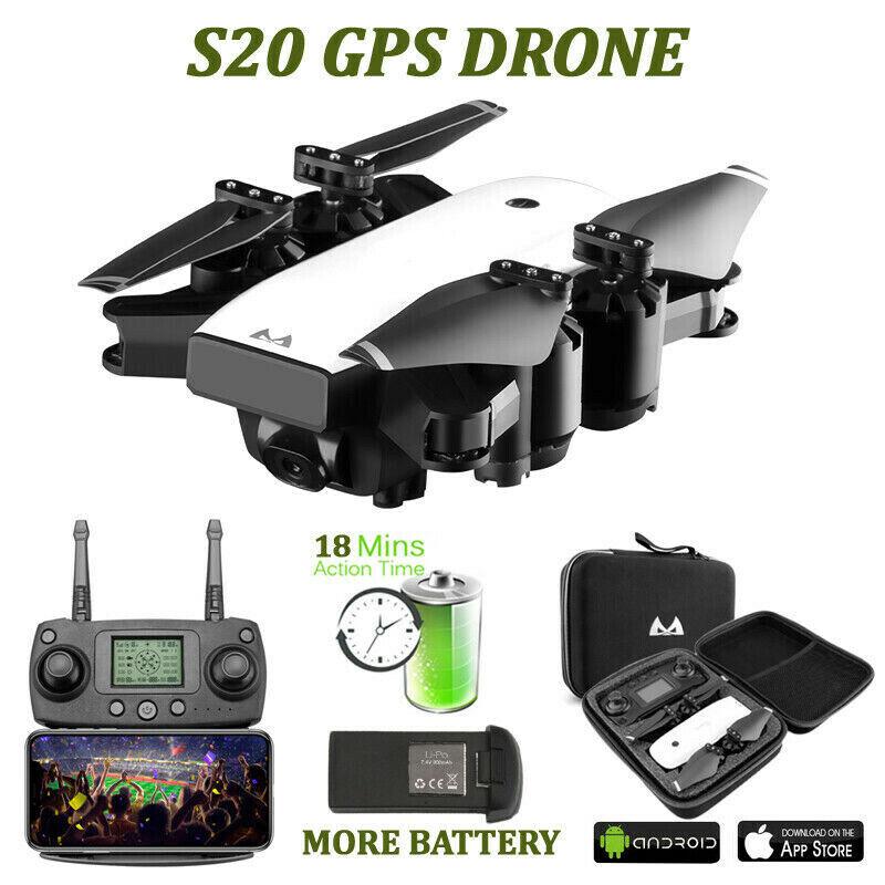 Smrc S20 GPS 5G 1080P HD Cámara Plegable Wi-fi FPV Avión teledirigido cuadricóptero RC