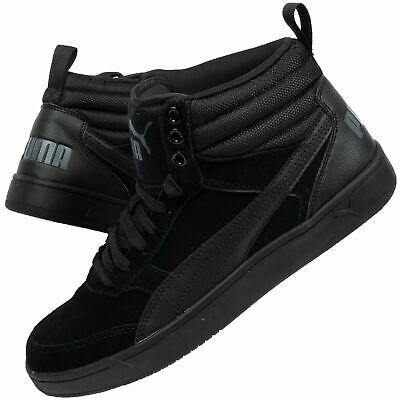 Men's Puma Rebound Street V2 SD Black Suede High Top Basketball Boots Trainers | eBay