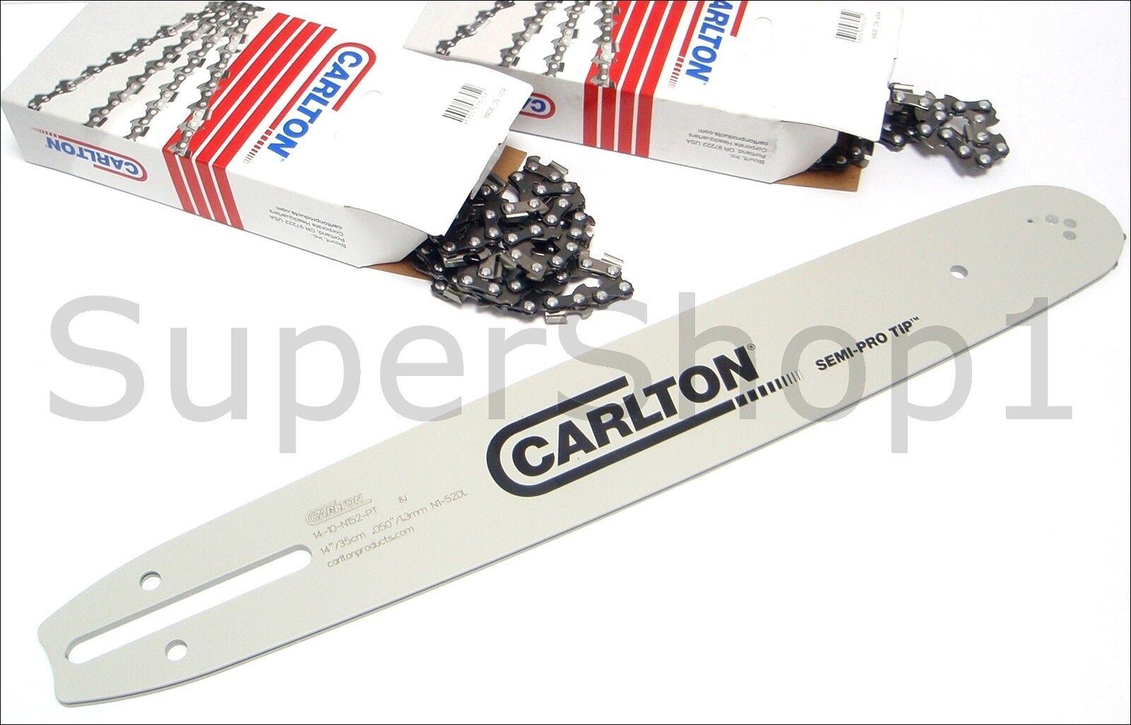 Conjunto de Cochelton 14  guía Bar & 2 X Cadena Para Echo CS-280, CS-290, CS-300, CS-310