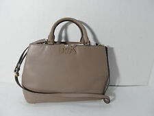 MICHAEL KORS FLORENCE DARK DUNE LARGE LEATHER SATCHEL HANDBAG