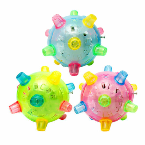 Baby Kids Classic Toy Jumping Flashing Light Up Bopper Vibrating Sound Ball X SP