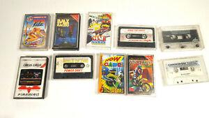 10-x-Commodore-64-C64-Original-Spiele-Kassetten-Sammlung-Cassette-Sammler
