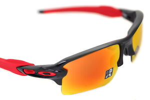 Oakley-Pare-Balle-2-0-XL-OO9188-80-Sport-Hommes-Soleil-Noir-Poli-Prizm-Rubis-Red