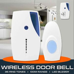 Wireless-Door-Bell-36-CHIME-Home-Cordless-Portable-100M-Range-Digital-Doorbell