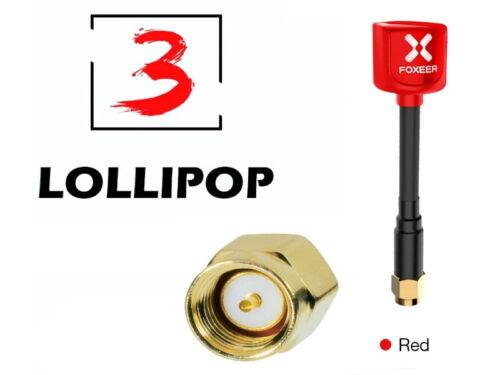 Foxeer 5.8G Lollipop3 2.5 dBi Omni FPV Antenne RHCP mit SMA 2 Stück rot