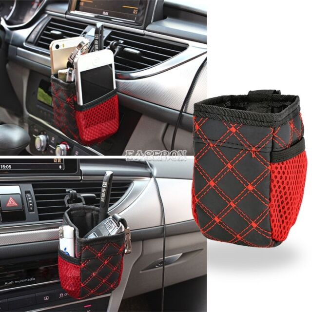 Hot!Auto Car Accessory Hanging Bag Drinks Phones Storage Pouch Holder Organizer