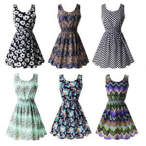 Women-Summer-Beach-Sundress-Floral-Mini-Short-Dress-Sleeveless-Skater-Vest-Skirt