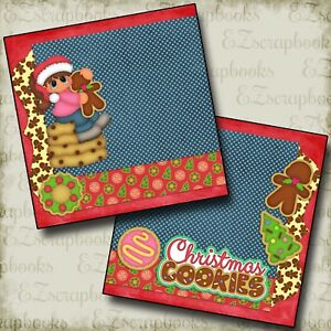 Details About Christmas Cookies Girl Npm 2 Premade Scrapbook Pages Ez Layout 2276