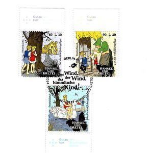 Bund Mi.Nr. 3056-3058 gestempelt/Wohlfahrt (Hänsel und Gretel) auf Karton - Donauwörth, Deutschland - Bund Mi.Nr. 3056-3058 gestempelt/Wohlfahrt (Hänsel und Gretel) auf Karton - Donauwörth, Deutschland