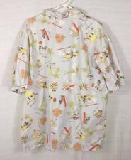 Disney Shopping Mickey & Minnie Mouse Goofy Donald Duck Hawaiian Shirt Sz XL