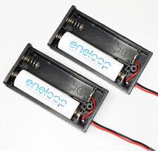 2 Stück Batterie Akku Kasten Halter Fach Pack 2 AA Zellen im Gehäuse neu