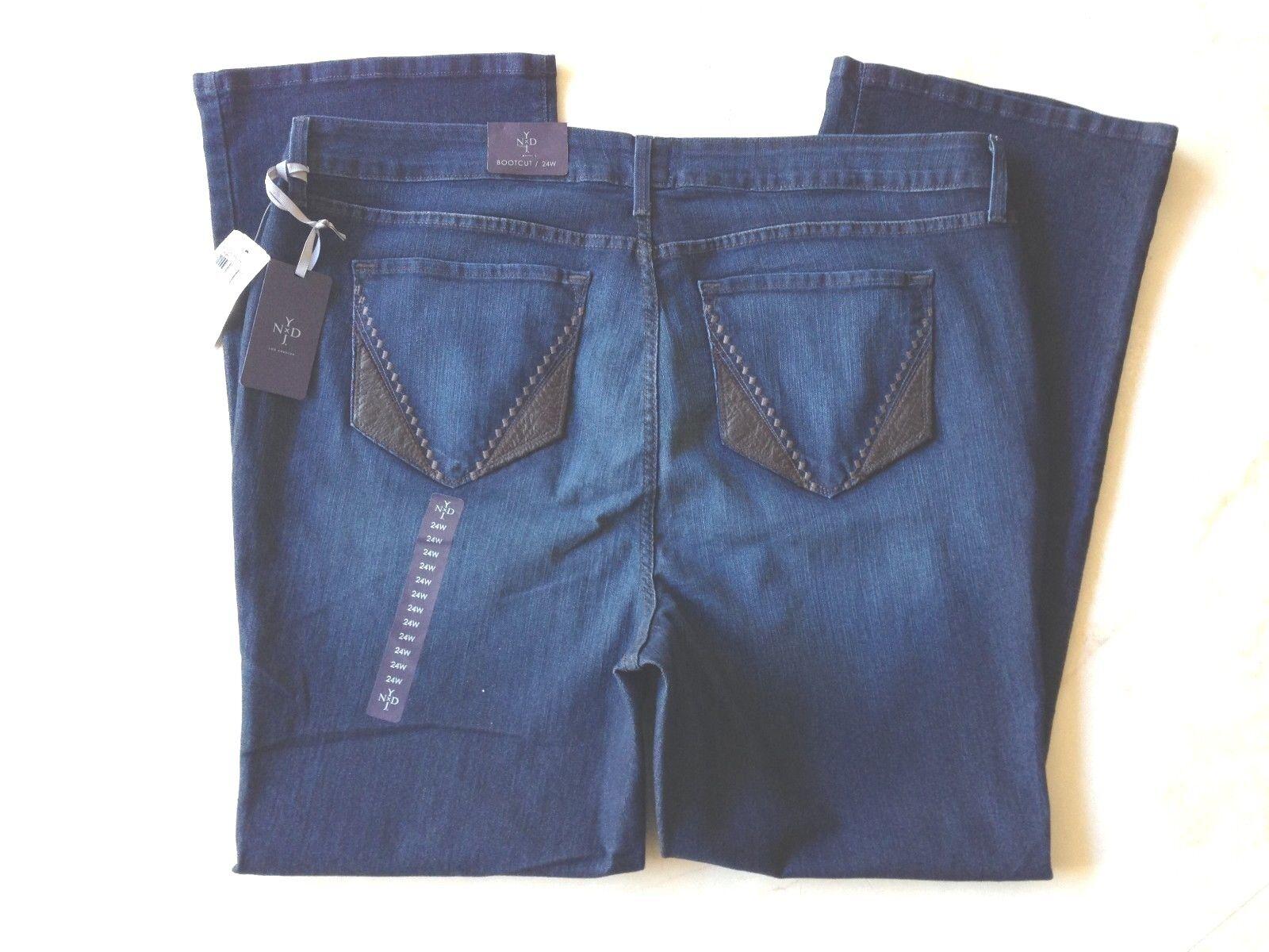 NYDJ Burbk Slimming Bootcut Jeans Plus Size 24W Retail  140 NWT