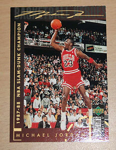 buy popular 985a6 c7a6d Image is loading Michael-Jordan-1994-Collector-Choice-1987-Slam-Dunk-