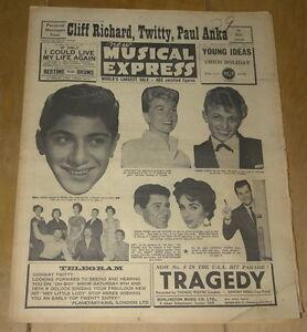 NME NEW MUSICAL EXPRESS 8 MAY 1959 ~ PAUL ANKA TOMMY STEELE DORIS DAY ELVIS  | eBay