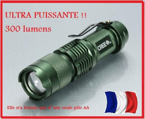ULTRA POWERFUL Mini Lamp LED Torch POCKET survival adventure voyage 300 lux