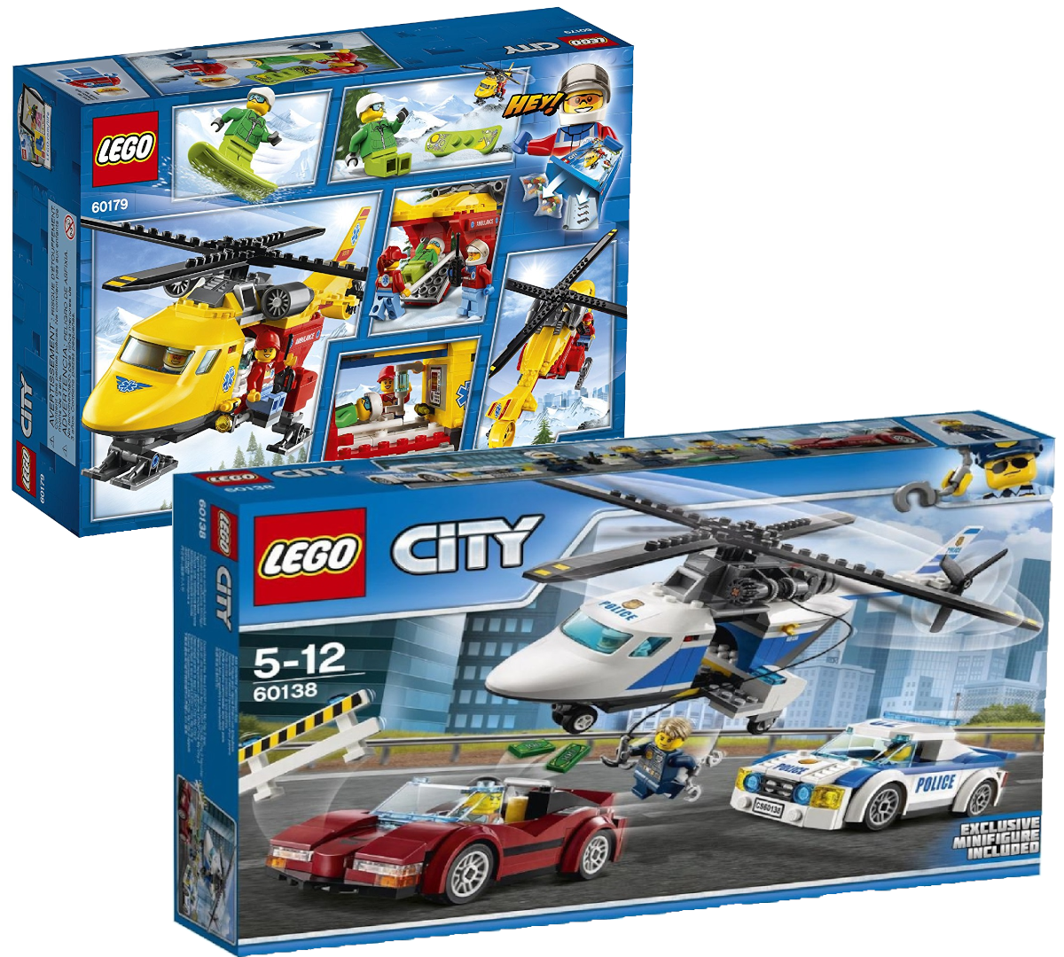 LEGO  città (60179) Ambulance Helicopter e (60138) High Speed Chase Bundle nuovo  Sito ufficiale