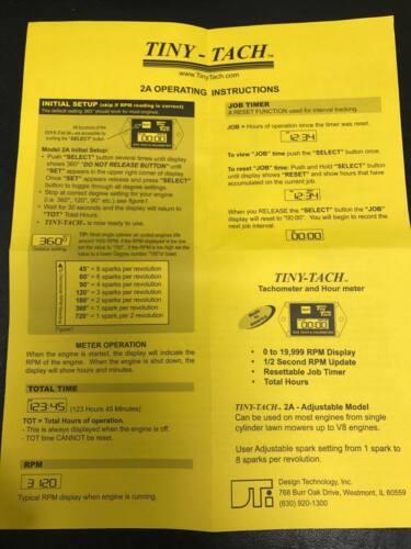 Tach instructions tiny Design Technology,