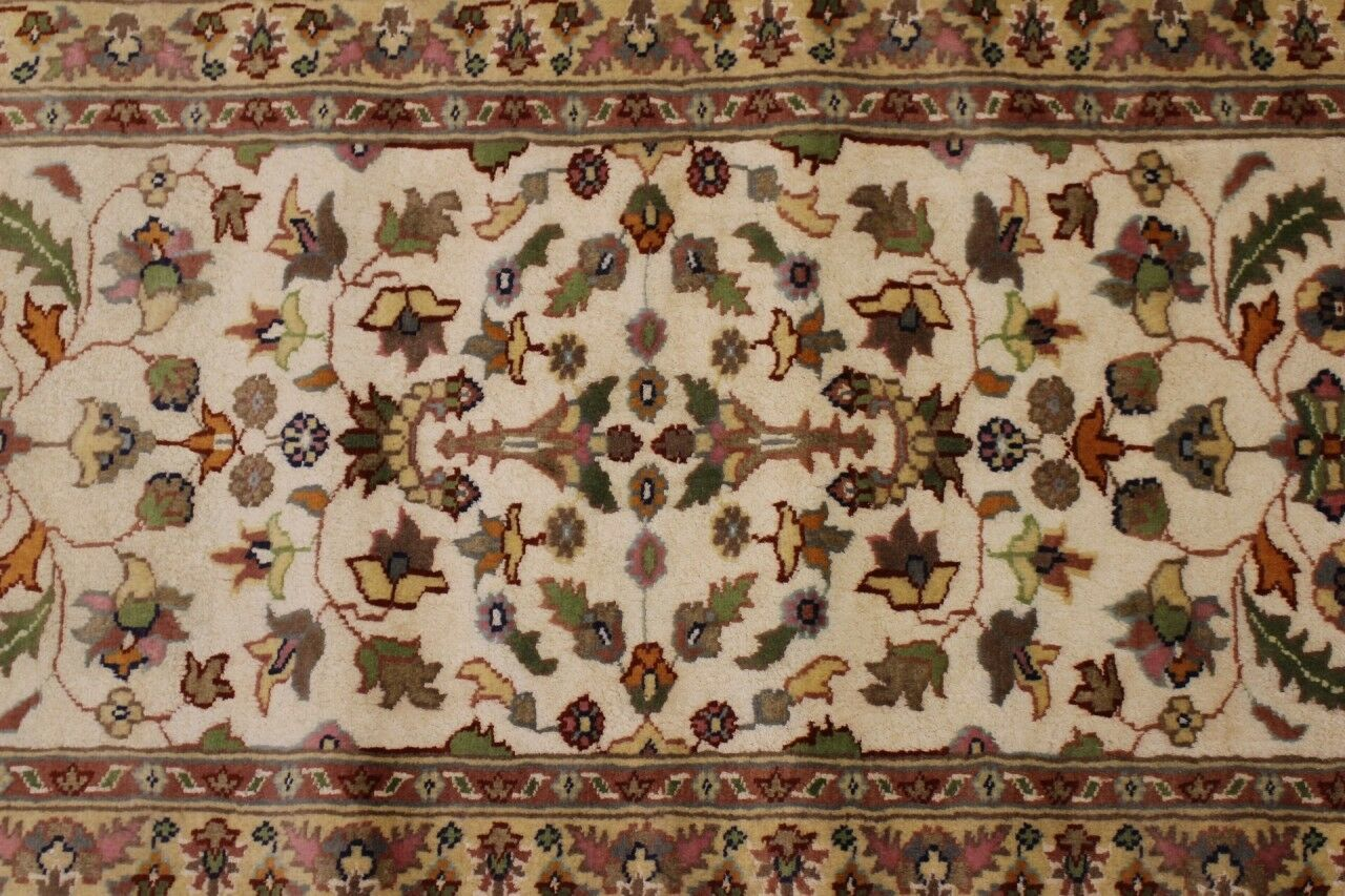 Rugstc 2.5x8 Pak Persian Ivory Runner Rug, Hand-Knotted,Floral with Silk Silk Silk Wool 9c9e77