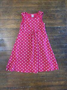 Gymboree Girls Polka Dot Dress Sleeveless Red Size 9