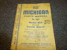Clark Michigan 85A Track Shovel Loader Series II 2 Parts Catalog Manual 1669