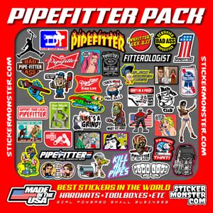 Welding Hood Hard Hat Stickers HardHat Sticker /& Decals 40 PIPEFITTER WELDER