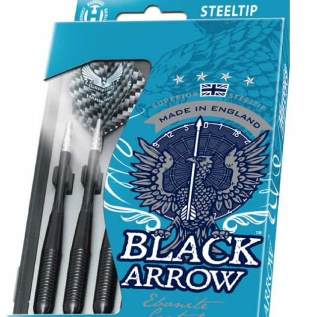 HARROWS BLACK ARROW DART SET - Ebonite Brass 19g - 26g gram