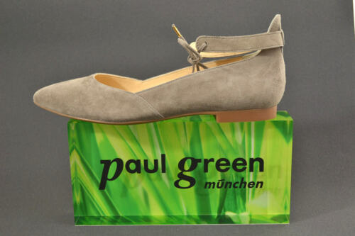 Paul Green Riemchen Ballerina Pumps Schuhe  1039 039 trüffel beige Leder NEU