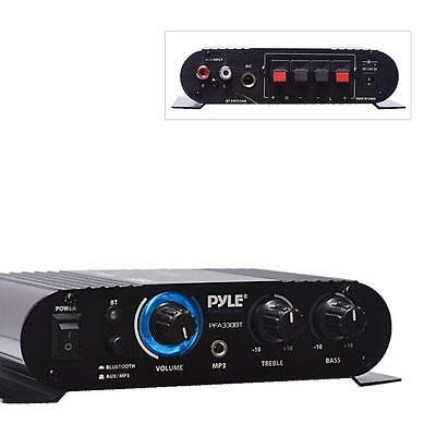 Pyle PFA330BT Bluetooth  Push-Type Speaker Terminals  90W Mini Compact Amp