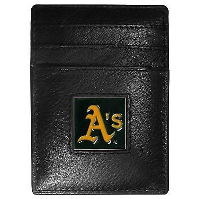 Willensstark Oakland A's Athletics Mlb Feine Vollleder Kartenhalter Geldklammer Portemonnaie Baseball & Softball