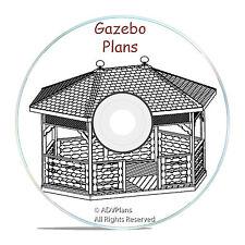 GAZEBO PLANS PACKAGE, 13 DIFFERENT ORIGINAL DESIGNS, STEP BY STEP DIY WOOD PLANS