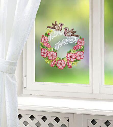 Bellos fensterdeko pájaro par ventana imagen Gardine fensterhänger filigrana 20