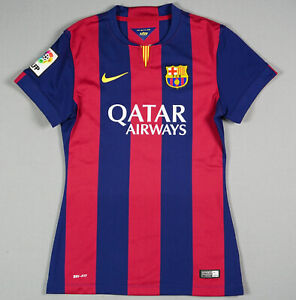 Fc Barcelona 2014 15 S Home Women Treble Barca Jersey Shirt Football 610799 422 Ebay