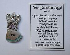 b Love praying YOUR GUARDIAN ANGEL pocket token charm Ganz protect guide watch