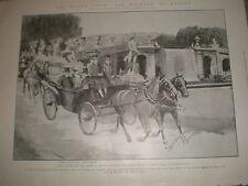 Rey Eduardo VII Reina Maria Amelia de Portugal en Nápoles Italia 1903 Print