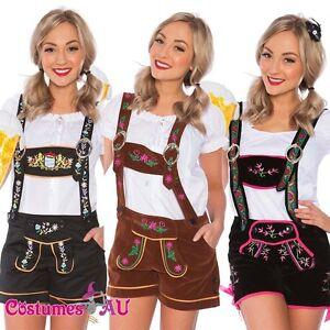 Image is loading Ladies-Oktoberfest-Costume-German-Beer-Maid-Woman- Lederhosen-  sc 1 st  eBay & Ladies Oktoberfest Costume German Beer Maid Woman Lederhosen Party ...