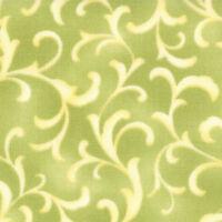 46 Long Bolt End Coquette Light Green Scroll Quilt Fabric By Moda 16065 14