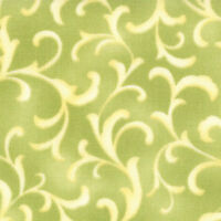 46 Long Bolt End Coquette Light Green Scroll Quilt Fabric By Moda 16065 14