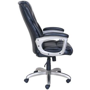 Details About Computer Desk Chair Office Leather Swivel Ergonomic Executive High Back Black
