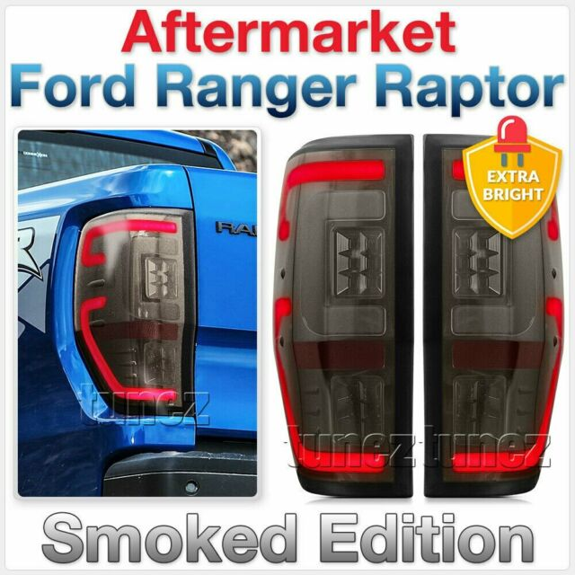 NEW Smoked LED Tail Rear Lamp Lights For Ford Ranger Raptor 2018 2019 F150 AT